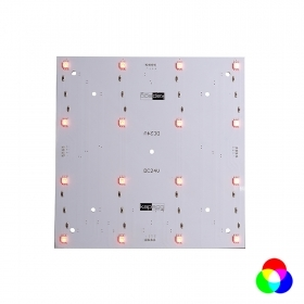 The panel 16 RGB leds 5.5 w decorative lighting, signs tables, modular 24v