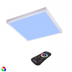 Ceiling luminaire RGBW led 55w 60x60 panel, chromotherapy, rf remote control
