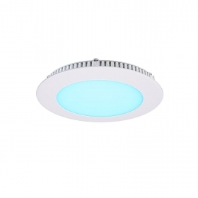 Panel led slim RGBW 8w 24v recessed rgbww rgb warm white dmx