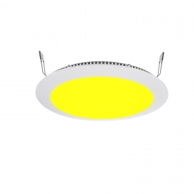 Led panel 16w RGBW 24v recessed slim rgb and warm white rgbww dmx hole 22cm