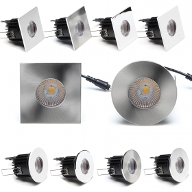 Led spotlight bulbs dimmable 7w cob recessed IP65 shower wet environments hole 68mm To