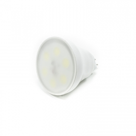 Spotlight led lamp GU5.3 4W 6 LED MCOB 560 lumen 6000K 12V MR16 diffused light