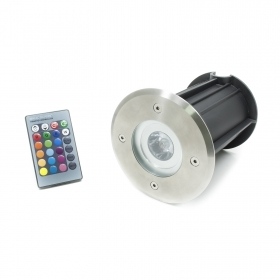 The walkable led RGB 3W led remote control path light spotlight recessed ground ip65