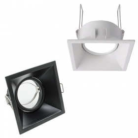 Recessed door spotlight square
