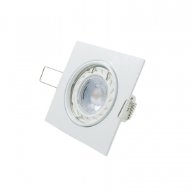 Led spotlight recessed adjustable 5w GU10 led spot 38 degrees white square hole 75mm