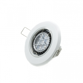 Led spotlight 7w recessed round ring adjustable GU10 light diffused white 75mm