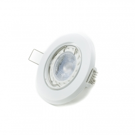 Led downlight recessed 5w led spot round white adjustable directed light hole 75mm