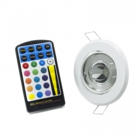 Led spotlight RGB 5w GU10 adjustable chromotherapy remote control hole for built-in 75mm