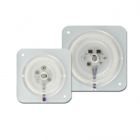 Module led undercabinet panel replacement ceiling light with a neon bulb plate