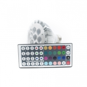Led lamp E27 PAR30 RGB LED 7W ir 230V games light 16 colors chromotherapy