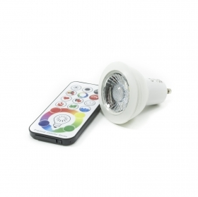 Led spotlight GU10 RGBW 6w lamp chromotherapy remote control light multicolor