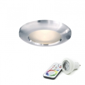 Spotlight waterproof IP65 bathroom shower lamp led gu10 6w RGBW color therapy