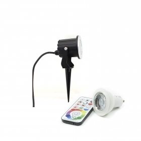 Spotlight outdoor IP65 garden plants led GU10 6w rgbw multi color and white