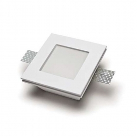 Spotlight recessed plaster 12x12x6cm concealed walls ceilings plasterboard led GU10