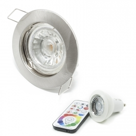 Spotlight recessed hole 6cm led light rgbw 6w color therapy GU10 games light colors