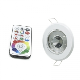 Led spotlight 6w RGBW RGB hole for built-in 70mm adjustable GU10 multicolour 6000k
