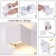 Wall lamp LED cube light angle adjustable outdoor IP55 waterproof
