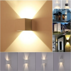 Wall lamp LED cube light angle