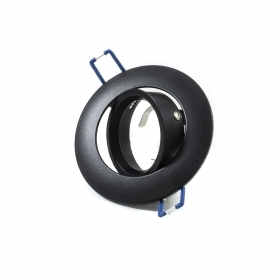 Portafaretto collection black swivel hole 75mm for led spotlight halogen