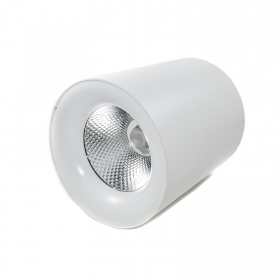 Ceiling light modern led COB 24W white cylinder tube aluminum white spot light