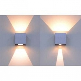 Applique led outdoor light IP65 twin light adjustable UP-DOWN wall-lamp 230V