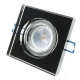 Spotlight led downlight 5w frame and square glass mirrored spot 38 degrees hole 65mm
