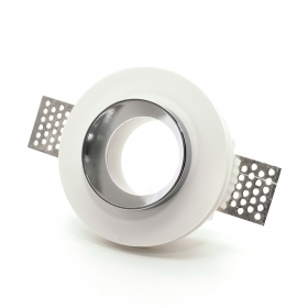 Portafaretto plaster recessed round ring lock downlight chrome retractable slim