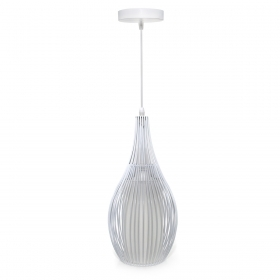 Chandelier, pendant lamp, modern white metal E27 lamp 10w