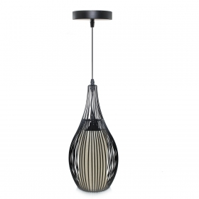 Chandelier, pendant lamp, modern black metal E27 lamp 10w gift