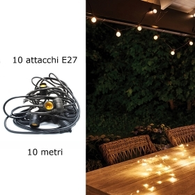 Chain wire led lights decorative outdoor 10m ip65 E27 garden 2000w