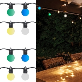 Chain wire led lights decorative outdoor 10m ip65 10 light bulbs E27 garden 2000w